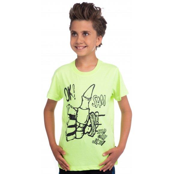 Chlapecké triko s krátkým rukávem SAM 73 BT 518 ŽLUTÁ NEON