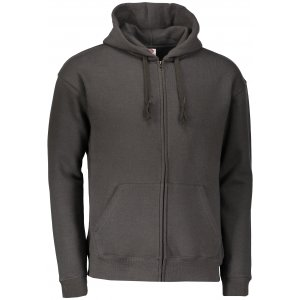 Pánská mikina s kapucí FRUIT OF THE LOOM PREMIUM HOODED SWEAT CHARCOAL