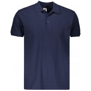 Pánské triko s límečkem FRUIT OF THE LOOM PREMIUM POLO DEEP NAVY