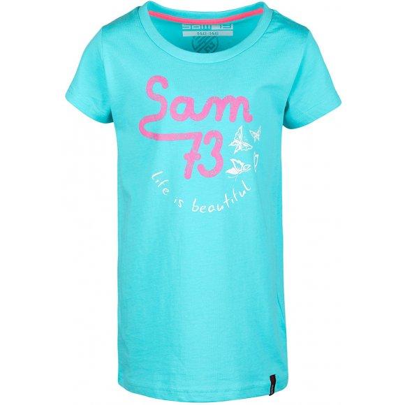 Dětské triko SAM 73 DORCA KTSL129 SVĚTLE MODRÁ