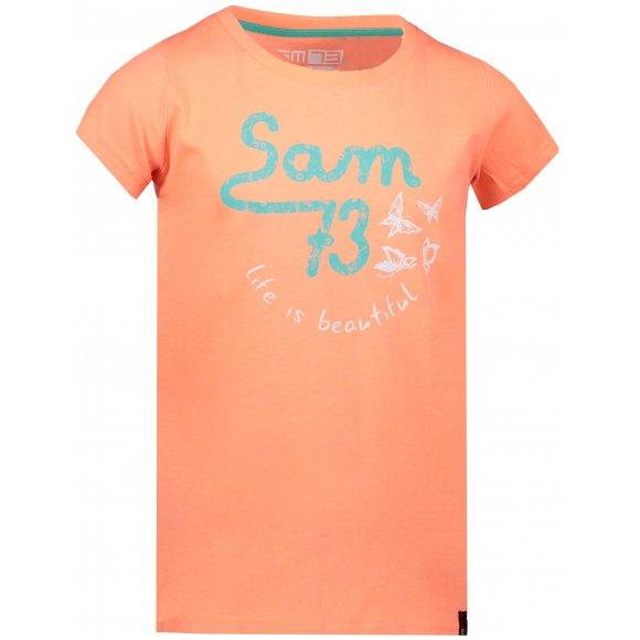 Dětské triko SAM 73 DORCA KTSL129 ORANŽOVÁ