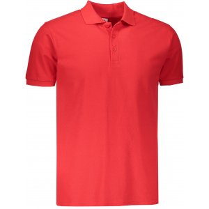 Pánské triko s límečkem FRUIT OF THE LOOM PREMIUM POLO RED