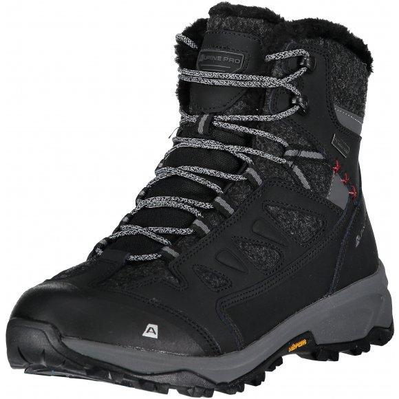 Pánské zimní boty ALPINE PRO ALTAIR MBTM155 ČERNÁ