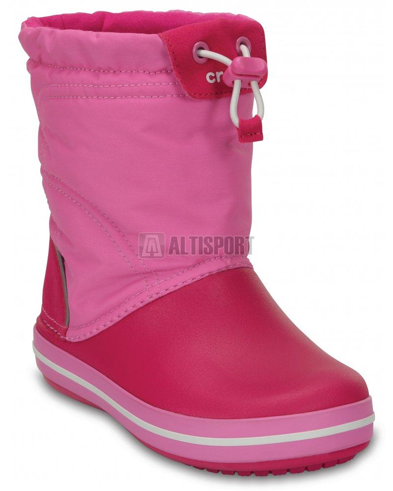 Dětské zimní boty CROCS KIDS CROCBAND LODGE POITN BOOT 203509-6LR CANDY  PINK PARTY 8c8081c0d9