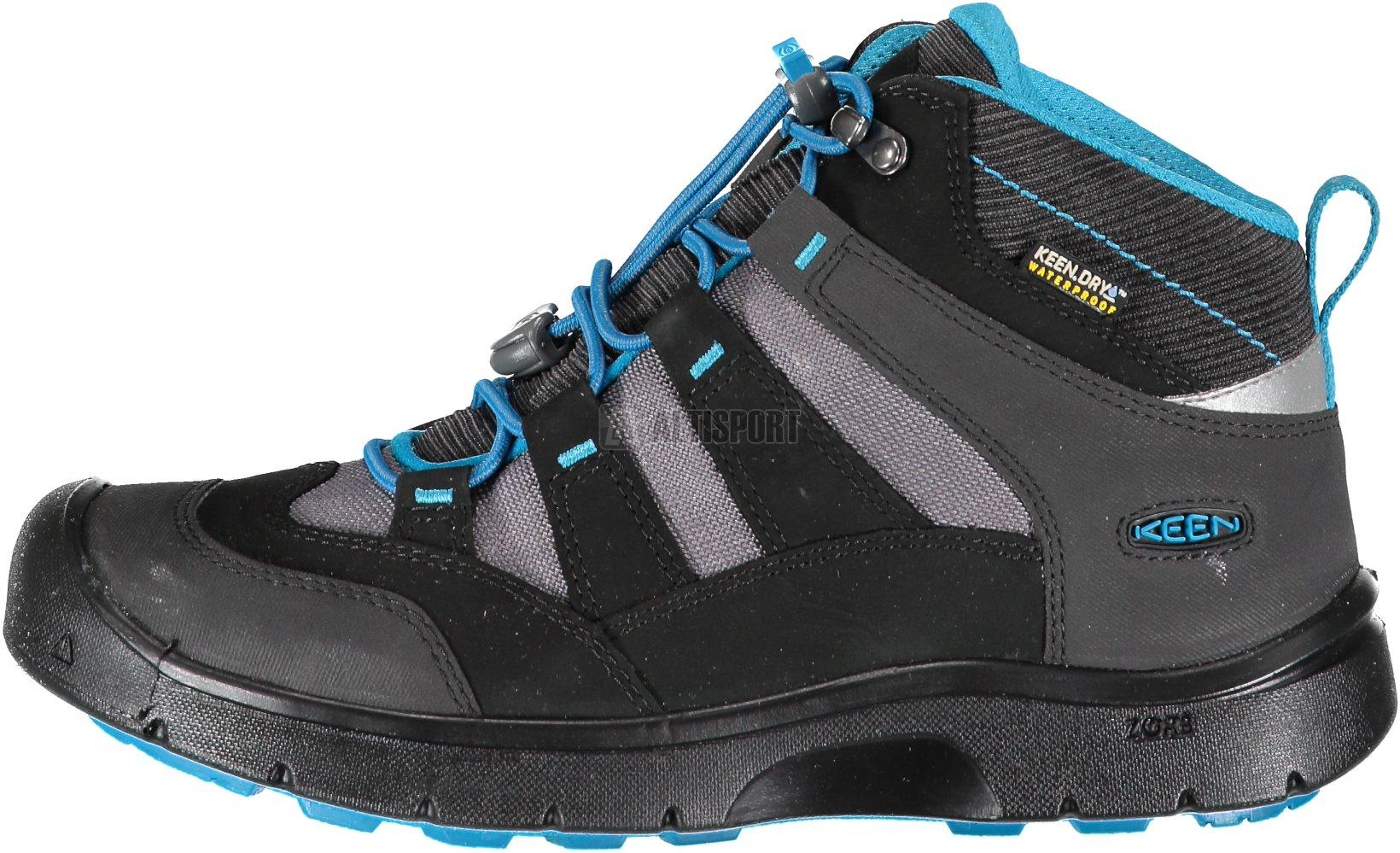 Dětské turistické boty KEEN HIKEPORT MID WP Y BLACK BLUE JEWEL ... 67261cc9aa