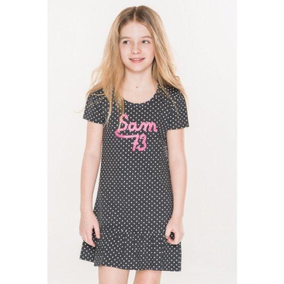 Dívčí šaty SAM 73 DEMETRA KSKL037 ČERNÁ