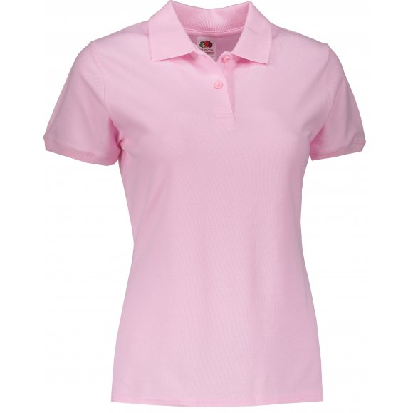 Dámské tričko s límečkem FRUIT OF THE LOOM LADY FIT PREMIUM POLO LIGHT PINK