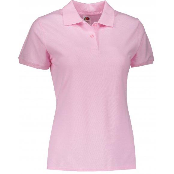 Dámské tričko s límečkem FRUIT OF THE LOOM LADY FIT PREMIUM POLO LIGHT PINK
