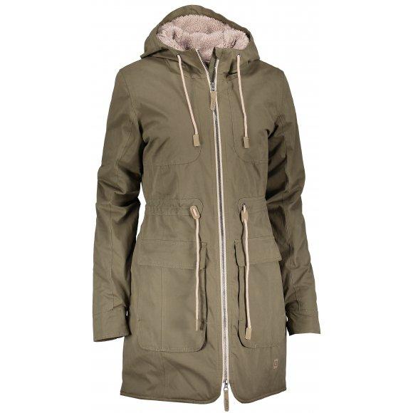 Dámský zimní kabát LOAP NOELA CLW1894 ZELENÁ