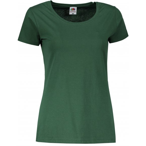Dámské tričko FRUIT OF THE LOOM LADY FIT VALUEWEIGHT T BOTTLE GREEN