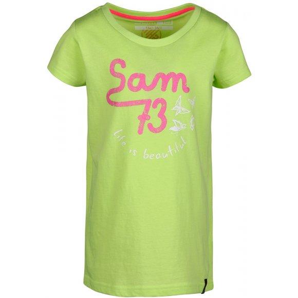 Dětské triko SAM 73 DORCA KTSL129 ZELENÁ NEON