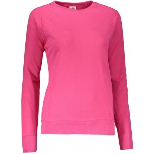 Dámská mikina FRUIT OF THE LOOM LIGHTWEIGHT RAGLAN SWEAT LADY FUCHSIA