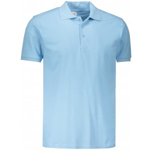 Pánské triko s límečkem FRUIT OF THE LOOM PREMIUM POLO SKY BLUE
