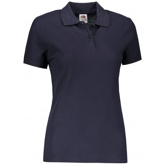 Dámské tričko s límečkem FRUIT OF THE LOOM LADY FIT PREMIUM POLO DEEP NAVY