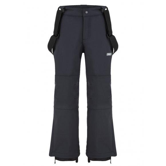 Dětské lyžařské softshellové kalhoty LOAP LUSER L8124 ČERNÁ