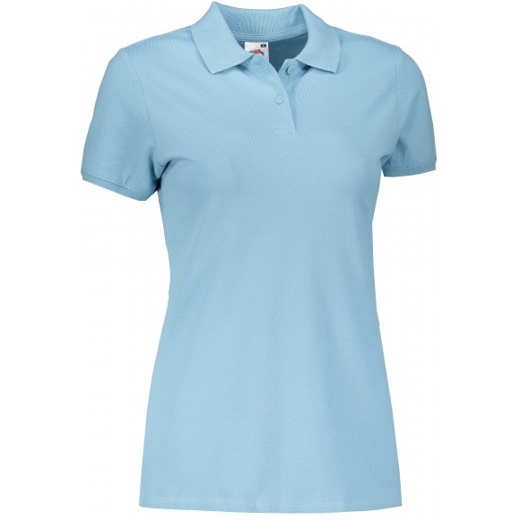 Dámské triko s límečkem FRUIT OF THE LOOM FIT POLO SKY BLUE