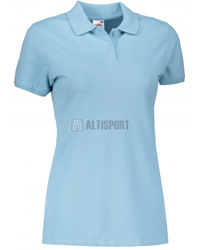 Dámské triko s límečkem FRUIT OF THE LOOM FIT POLO SKY BLUE velikost ... 2cff0a55b9