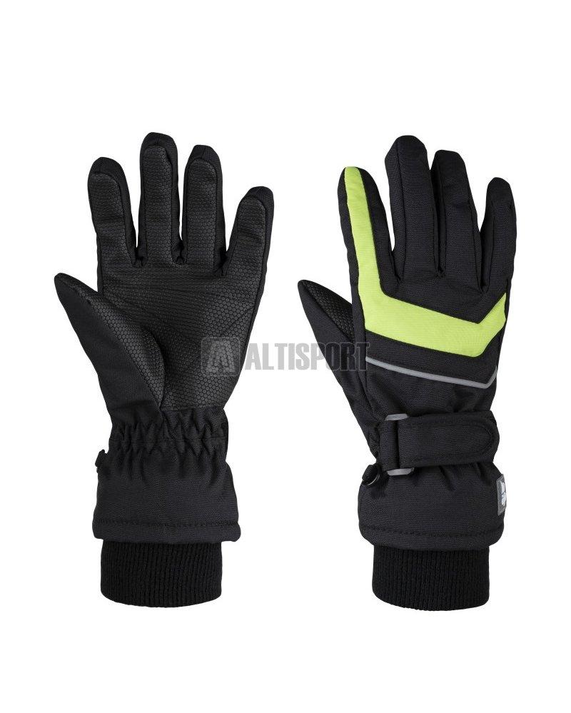 Dětské zimní rukavice LOAP RENKO L8153 ČERNOZELENÁ velikost  4 ... 198c5dd3dc