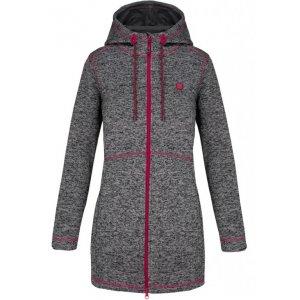 Dámský prodloužený svetr s kapucí LOAP GRISEL OLW1841 ŠEDÁ 4892baea96
