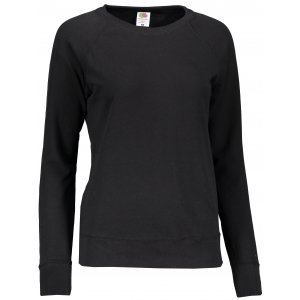 Dámská mikina FRUIT OF THE LOOM LIGHTWEIGHT RAGLAN SWEAT LADY BLACK