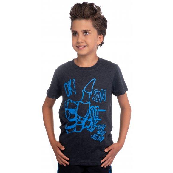 Chlapecké triko s krátkým rukávem SAM 73 BT 518 ČERNÁ