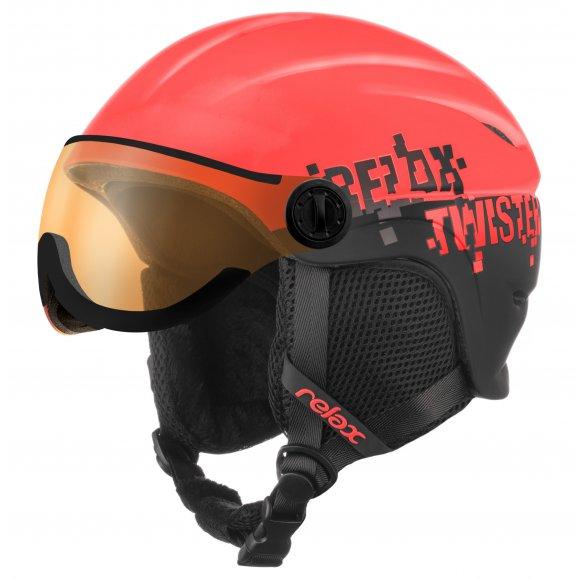 Dětská lyžařská helma RELAX TWISTER VISOR RH27D VIOLET