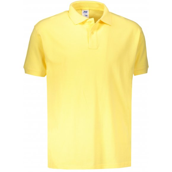 Pánské triko s límečkem JHK POLO REGULAR MAN LIGHT YELLOW