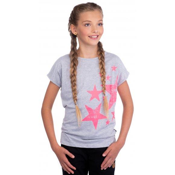 Dívčí triko s dlouhým rukávem SAM 73 GT 518 SVĚTLE ŠEDÁ