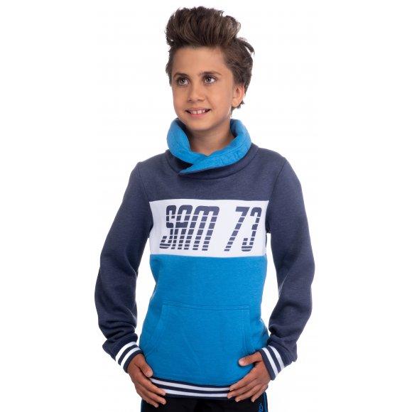 Chlapecká mikina SAM 73 BM 508 JASNĚ MODRÁ