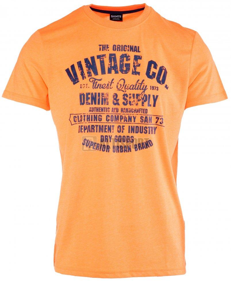 Pánské triko s krátkým rukávem SAM 73 MT 742 ORANŽOVÁ NEON velikost ... 1c786aee832