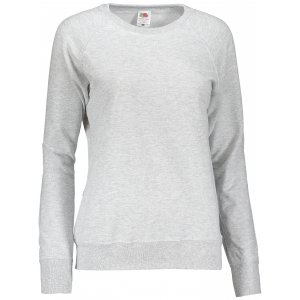 Dámská mikina FRUIT OF THE LOOM LIGHTWEIGHT RAGLAN SWEAT LADY HEATHER GREY
