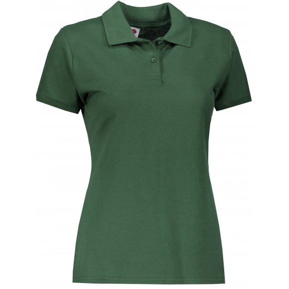Dámské tričko s límečkem FRUIT OF THE LOOM LADY FIT PREMIUM POLO BOTTLE GREEN