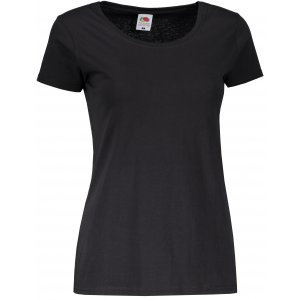 Dámské tričko FRUIT OF THE LOOM LADY FIT VALUEWEIGHT T BLACK