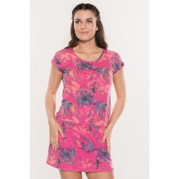 Dámské šaty SAM 73 BOAZA 2 LSKL127 RŮŽOVÁ NEON