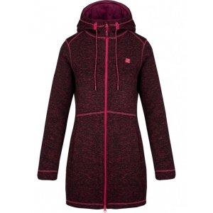 Dámský prodloužený svetr s kapucí LOAP GRISEL OLW1841 FIALOVÁ 17bb7f389a