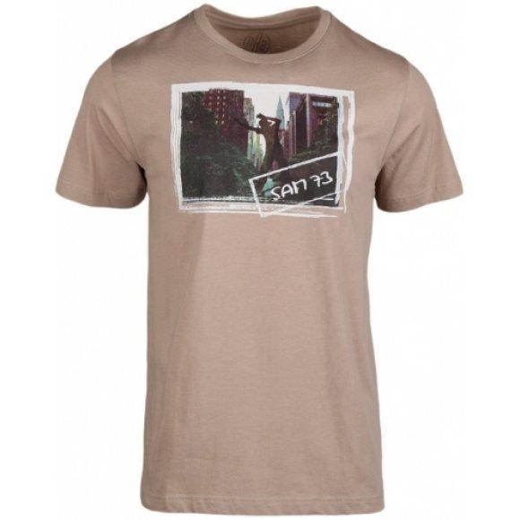 Pánské tričko SAM 73 ALAB 2 MTSL318 BÉŽOVÁ
