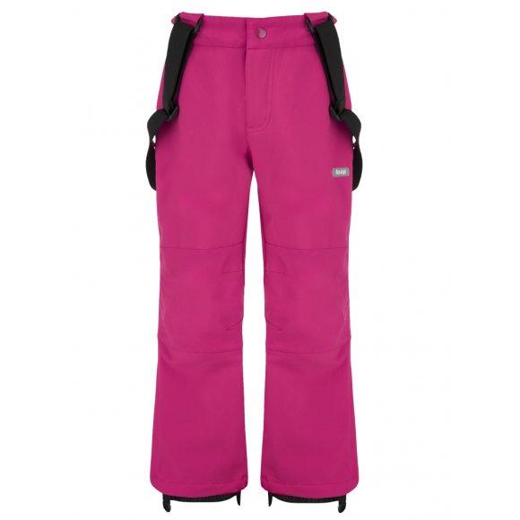 Dětské lyžařské softshellové kalhoty LOAP LUSER L8124 RŮŽOVÁ