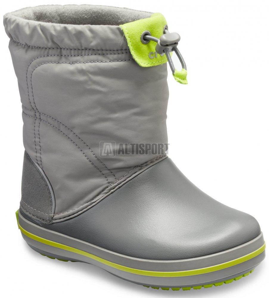 Dětské zimní boty CROCS KIDS CROCBAND LODGE POITN BOOT 203509-08G  CHARCOAL OCEAN a80bfd9bd7