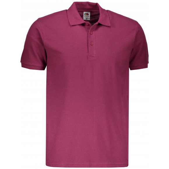 Pánské triko s límečkem FRUIT OF THE LOOM PREMIUM POLO BURGUNDY