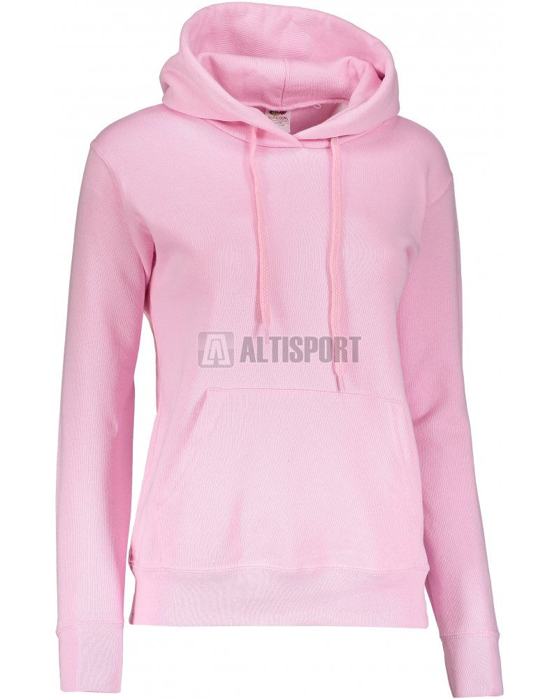 Dámská mikina s kapucí FRUIT OF THE LOOM CLASSIC SWEAT LIGHT PINK ... 4add995637