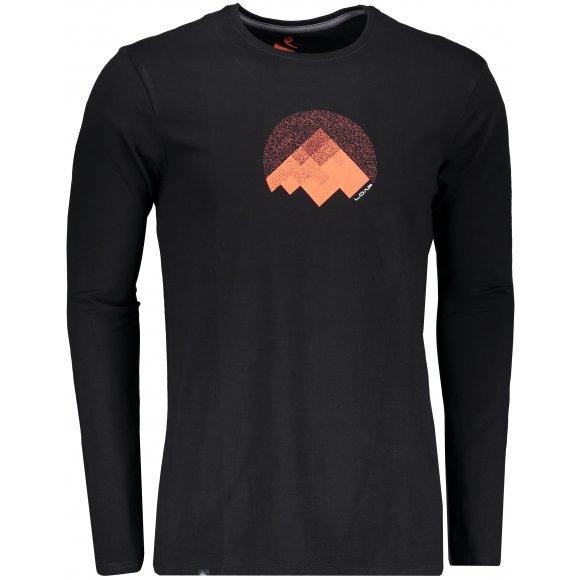 Pánské triko s dlouhým rukávem LOAP ALTON CLM1871 ČERNÁ
