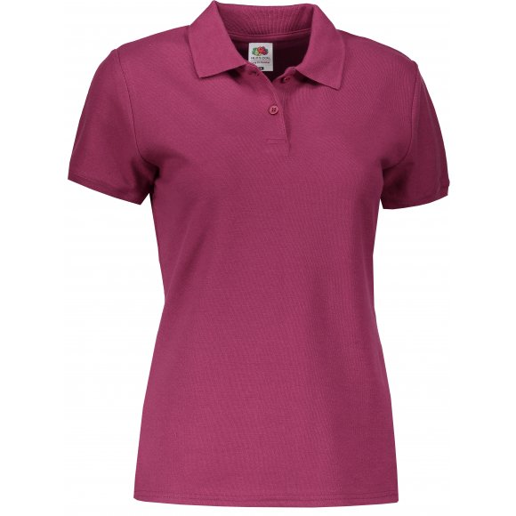Dámské tričko s límečkem FRUIT OF THE LOOM LADY FIT PREMIUM POLO BURGUNDY
