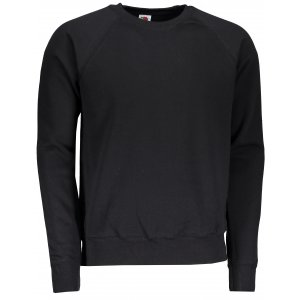 Pánská mikina FRUIT OF THE LOOM CLASSIC RAGLAN SWEAT BLACK