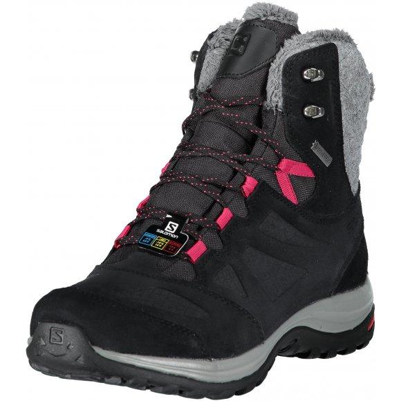 Dámské zimní boty SALOMON ELLIPSE WINTER GTX L40469900 BLACK/PHANTOM/CERISE.