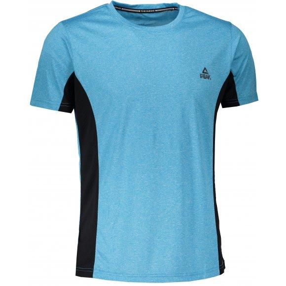 Pánské funkční triko PEAK ROUND NECK T-SHIRT FW67545 SVĚTLE MODRÁ MELANGE