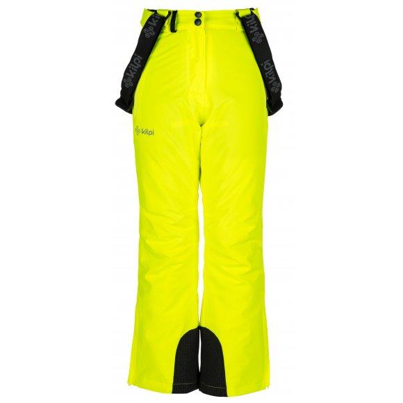 Dívčí lyžařské kalhoty  KILPI EUROPA-JG JJ0045KI ŽLUTÁ