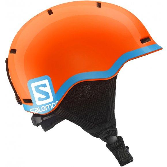 Dětská lyžařská helma SALOMON GROM L37773400 FLUO ORANGE/BLUE