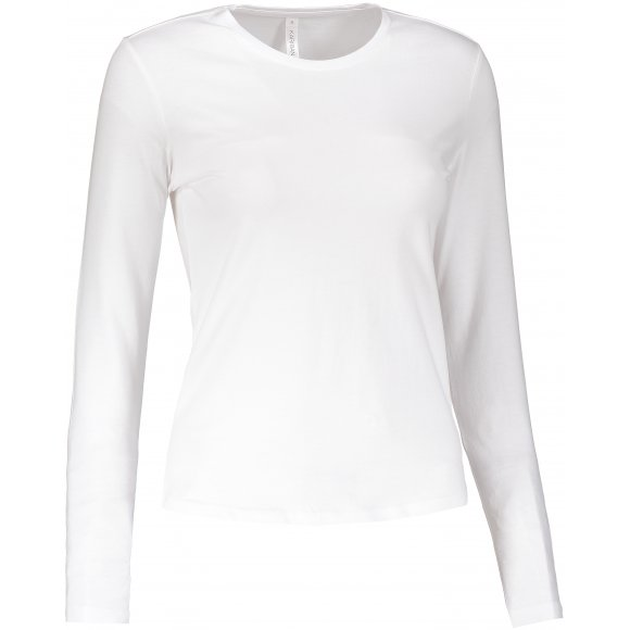 Dámské triko s dlouhým rukávem KARIBAN WHITE