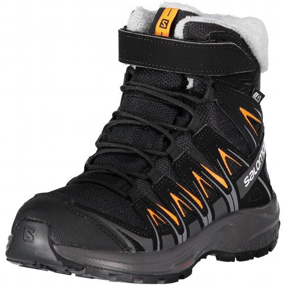 Dětské zimní boty SALOMON XA PRO 3D WINTER TS CSWP J L40651100 BLACK/MAGNET/TANGELO