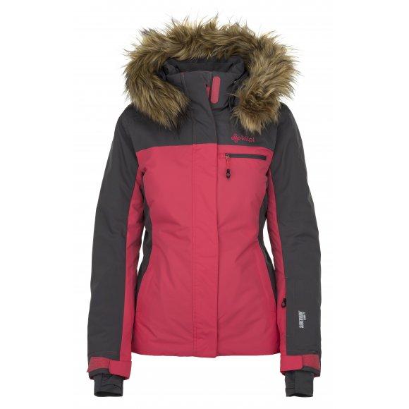 Dámská lyžařská bunda  KILPI MILVA-W JL0192KI RŮŽOVÁ